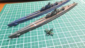 1/700 潜水艦 伊401 製作4